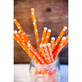 Orange med vita stjärnor